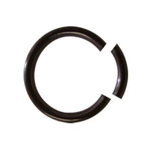 Schwarzer Chirurgenstahl Glatter Segment Rings 1.6x12mm