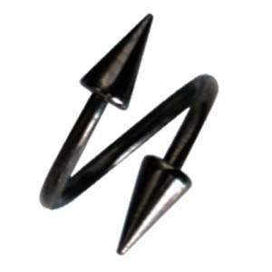 Schwarzer Twister mit Spitzen