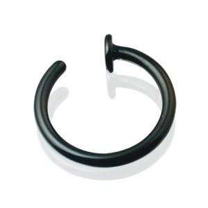 Schwarzer Stahl, Nasenring Stärke 1.0mm, Durchmess
