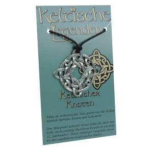 Kettenanhänger keltische Legenden - keltischer Knoten Symbol