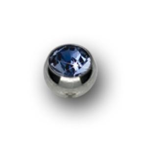 Titan Schraubkugeln mit 1.6mm Gewinde und Swarovski Kristall