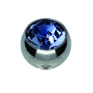Titan Schraubkugeln mit 1.6mm Gewinde und farbigen Swarovski