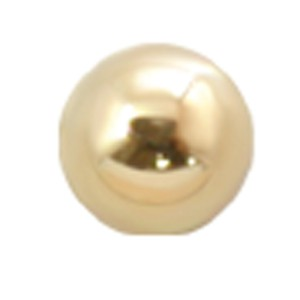 14 Karat Gold Hohlschraubkugel 1.6mm Gewinde