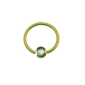 14 Karat Gold Lippenbändchenpiercing in 0.6mm Stärke