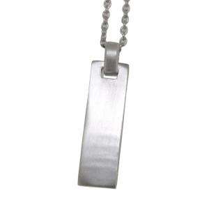 Rechteckiger Silber Anhänger