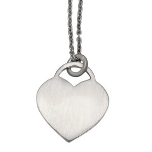 Herzförmiger Silber Anhänger, 18x19mm