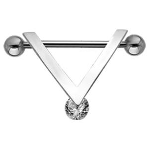 Perfect elegance - Brustwarzen Piercing mit drehbarem Kristall 01