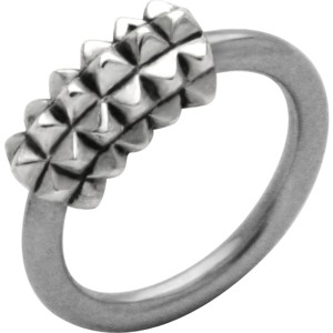 Front Closure Ring mit 925 Sterling Silber Verschluß