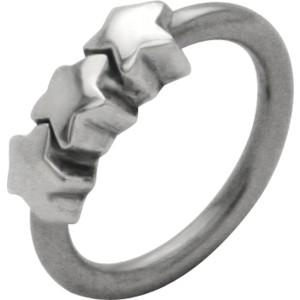 Front Closure Ring mit 925 Sterling Silber Verschluß und Sternen