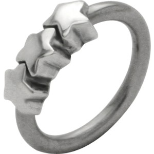 Front Closure Ring mit 925 Silber Verschluß und Sternen
