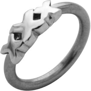 Front Closure Ring mit 925 Sterling Silber Verschluß, Motiv XXX