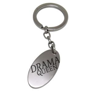 Schlüsselanhänger Oval aus Edelstahl mit Ihrer Wunschgravur