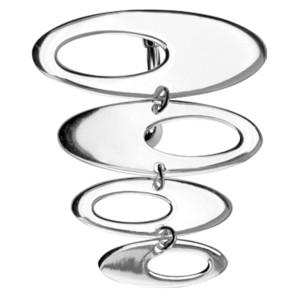 Bauchnabelpiercing im Retrostyle oval mit 925 Silber Design