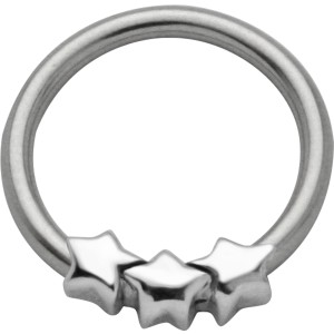 Ball Closure Ring mit Sternen Design