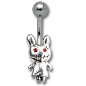 Bauchnabelpiercing ZOMBIE Hase