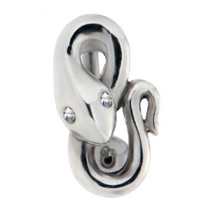 Bauchnabelpiercing 1.6x10mm Piercing in Piercing Schlange mit Kristallaugen