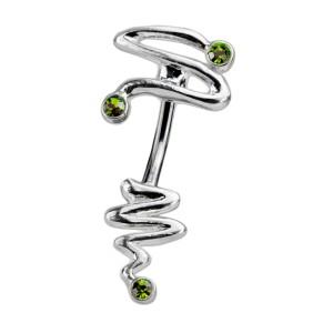 Bauchnabel Piercing mit doppeltem Design - Swaroskisteine