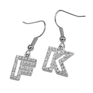 SONDERPREIS: Ohrhänger mit Kristallen und Buchstaben