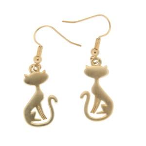 Ohrhänger mit Katzendesign