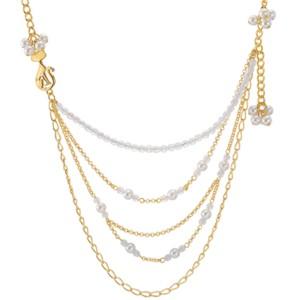 Mehrreihige vergoldete Halskette