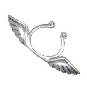 Brustwarzen Clip aus 925* Silber - Engelsflügel und Swarovski