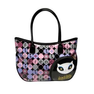 French Kitty Handtasche aus bedrucktem PVC