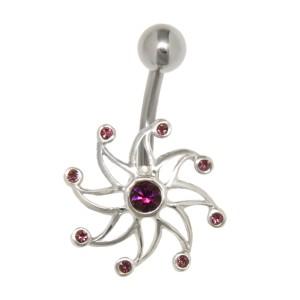 Bauchnabel Piercing mit Spiralen Design
