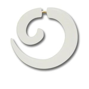 Pseudo-Piercing aus Wasserbüffelknochen, Spirale