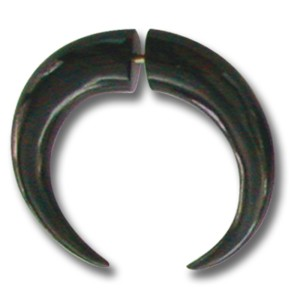 Pseudo-Piercing aus Wasserbüffelhorn, Hörner