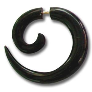 Pseudo-Piercing aus Wasserbüffelhorn, Spirale