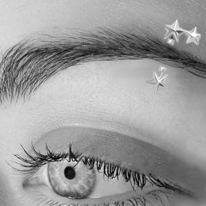 925 Sterling Silber Augenbrauenpiercing, Sterne
