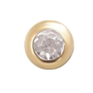 14 Karat Gold 5mm Kugel mit Kristall 1.6mm Gewinde