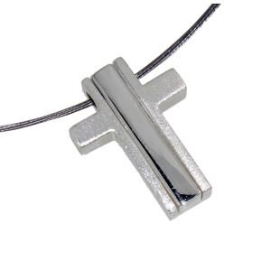 Anhänger Kreuz dreiteilig Silber