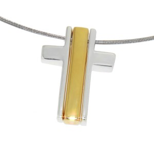 Kettenanhänger Kreuz dreiteilig Silber