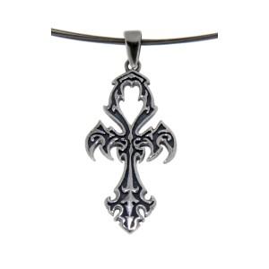Kettenanhänger aus Sterling Silber mit Kreuzdesign
