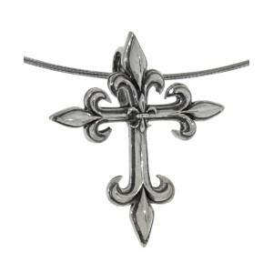 Anhänger aus Sterling Silber, Fleur de Lys