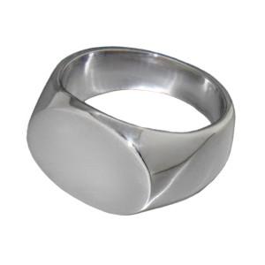 Feiner Siegelring aus Sterling Silber mit ovaler Front