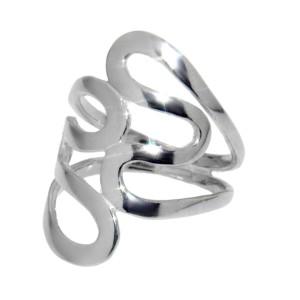 Ring aus feinem 925 Sterling Silber im Retro Design