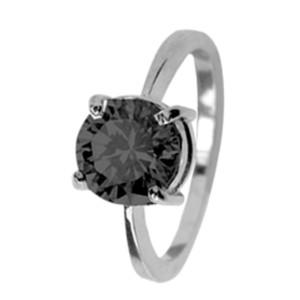 Ring aus Sterling Silber mit rundem Zirkonia