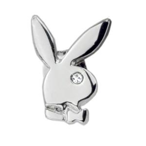 Playboy-Ohrstecker mit Kristall Bunny single