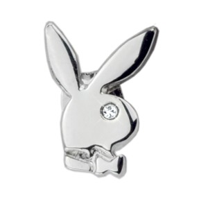Playboy-Ohrstecker mit Kristall Bunny single