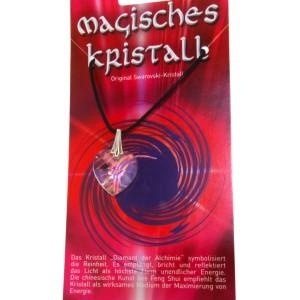 Kristallanhänger mit Kordelkette und Karte 07