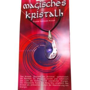 Kristallanhänger mit Kordelkette und Karte 08