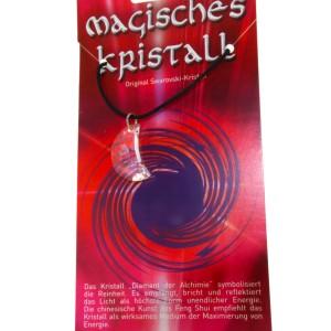 Kristallanhänger mit Kordelkette und Karte 04