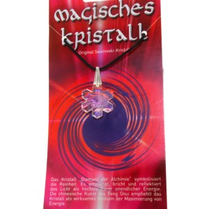 Kristallanhänger mit Kordelkette und Karte 05