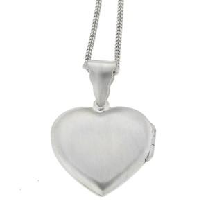 Herzförmiges Medaillon Herz aus 925 Sterling Silber, 25x25mm
