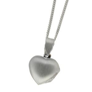 Silber Medaillon Herz 17mm