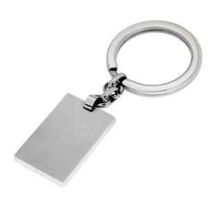Schlüssel-Anhänger aus Edelstahl, 20x30mm, gebürstet