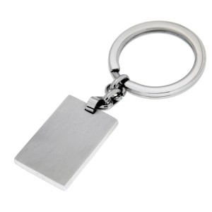 Schlüssel-Anhänger aus Edelstahl, gebürstet