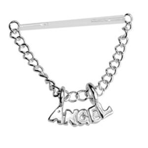 Nipple Brustwarzen Piercing aus PMFK mit Angel Schriftzug